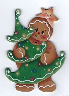 HP GINGERBREAD with Christmas Tree FRIDGE MAGNET could make it a snowman instead.