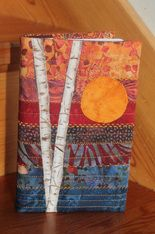 Quilted Book cover tutorial - On the Trail Creations - Generous instructions and Great Blog