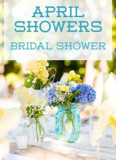 April Showers-- what a cute spring bridal shower theme! Click to learn how to host this get-together effortlessly.