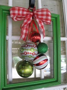 Christmas Wreath From 11x14 Picture Frame by TallahatchieDesigns, $28.00