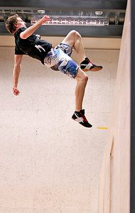 Julien Roberge on wall trampoline