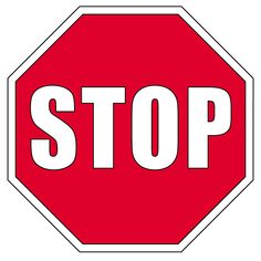 Clip Art: Signs: Stop Sign Color - signs illustration