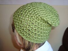 Crochet Slouch hat for Adult Green  Color by SuperCrochetMom, $15.00