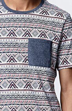 Soma Ethnic Pocket Crew T-Shirt