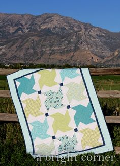 Whirled quilt - the pattern is available for this cute quilt and it's a quick and easy one to make!