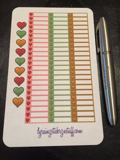 Heart Sticker Strips to fit the Weekly Layout Section in the Compact Sized Passion Planners. Each strip blocks out one hour of time. Sheet