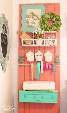 Take a peek into my craft room! This is where all the magic happens. See the full tour on Design Dazzle! #MichaelsMakers
