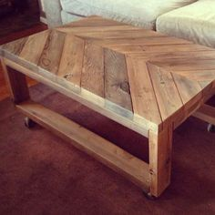 build coffee table or potting bench out of pallets?