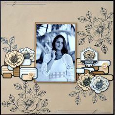 Lovely monochrome layout by Cathyscraps 85