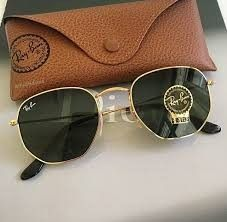 06fff285a1c6c Óculos de sol Hexagonal preto- dourado. VERDE-dourado Super promoção só  Hoje.