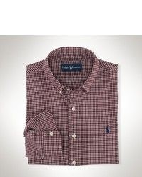 Polo Ralph Lauren Shirt Classic Fit Long Sleeve Checked Sueded Twill Shirt. Buy for $89 at Macy's.
