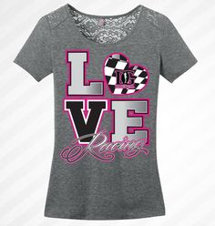 Love Racing - Lace Accent Shirt – Dirty Girl Racewear