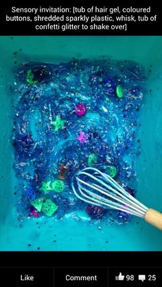 Messy play! Love this idea!