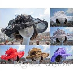 $4.48 and free shipping. 2015 New Arrival Womens Organza Hat Kentucky Derby Wedding Church Party Floral Hat Wide Brim Sun Summer Hats For Women Top Quality From Wangli1990, $4.72 | Dhgate.Com