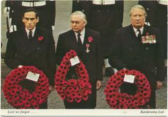 Postcard of Jeremy Thorpe, Harold Wilson & Edward Heath