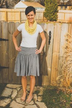 sew skirt and scarf!!
