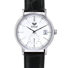 The Classic Timepiece is a straightforward watch, perfect for everyday wear. The simple elegance of this style, in leather and stainless steel, pairs well with a classic work suit. This watch is backed by the Gerard McCabe 3 year warranty.