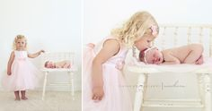 4 newborn sibling photos