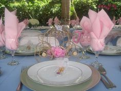 Princess Party Table and Favors #princess #party