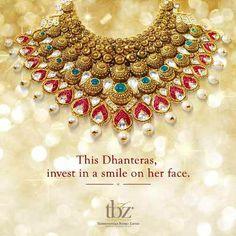 Happy #Dhanteras! #TBZ #Jewellery #FestiveSeason #Gold #Necklace