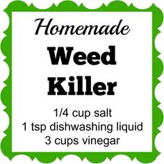 This inexpensive homemade weed killer has only 3 ingredients. Spray it on the weeds and they'll die within a few days.