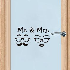 Mr. & Mrs. Quotes Door Sticker Fashion Bathroom Toilet Door Decals Diy Waterproof Wall Art Vinyl Removable Poster Home Decor  Price: 7.99 & FREE Shipping #computers #shopping #electronics #home #garden #LED #mobiles #rc #security #toys #bargain #coolstuff |#headphones #bluetooth #gifts #xmas #happybirthday #fun Bathroom Doors, Bathroom Toilets, Toilet Door, Door Stickers, Vinyl Wall Art, Mr Mrs, Diys, Decals, How To Remove