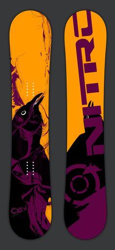 Crow Snowboard by Dennis Tseregounis, via Behance