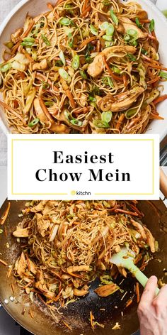 How To Make the Easiest Chow Mein in Just 20 Minutes (from The Kitchn) Chewy noodles, tender chicken, and crisp veggies are tossed together in this easy chow mein recipe. Just Cooking, Asian Cooking, Cooking Time, Stir Fry Recipes, Cooking Recipes, Top Ramen Recipes, Rice Noodle Recipes, Asian Noodle Recipes, Good Food