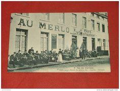 BRUXELLES - UCCLE  -  Café-Restaurant du Merlo , Rue de Neerstalle , 203 - 1919  -  (2 scans)