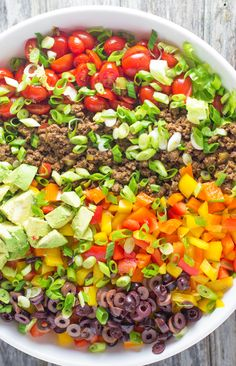 A colorful taco salad full of fresh vegetables, and seasoned meat. Plantain chips add a nice crunch without the corn, and it is all tossed with a creamy cilantro & chipotle dressing. #whole30 First of all I would like to apologize to anyone who saw this post publish on Friday with nothing but the photos.... Read More »