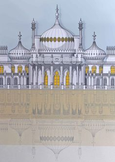 Linescapes : Brighton Royal Pavilion | Bailey Alexander Gallery