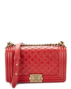 d455c420c15f Spotted this Chanel Red Quilted Calfskin Medium Boy Bag on Rue La La. Shop (