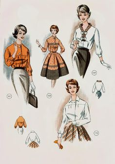 Фото: Sewing Patterns Girls, Vintage Patterns, 1950s Fashion, Vintage Fashion, Vintage Style, Moda Vintage, Drawing Clothes, Pattern Drafting, Design Process
