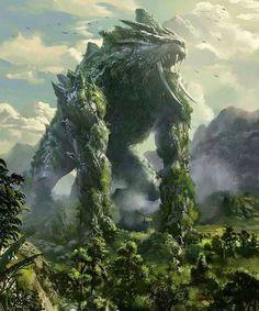 Fantasy Artwork, Fantasy Art Landscapes, Fantasy Landscape, Fantasy Monster, Monster Art, Mythical Creatures Art, Fantasy Creatures, Fantasy World, Dark Fantasy