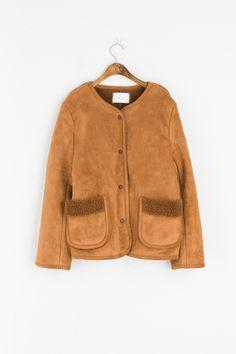 Olive - Two Pocket Round Neck Eco Shearing Jacket, Camel, £155.00 (http://www.oliveclothing.com/p-oliveunique-20161209-019-camel-two-pocket-round-neck-eco-shearing-jacket-camel)