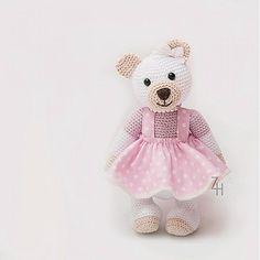 ★ Miss she-bear Teddy Bear, Toys, Handmade, Animals, Activity Toys, Hand Made, Animales, Animaux, Clearance Toys