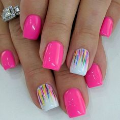 Cute Summer Nail Designs, Colorful Nail Designs, Toe Nail Designs, Nail Designs For Kids, Tropical Nail Designs, Nail Designs Spring, Fancy Nails, Love Nails, Diy Nails