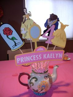 Beauty and the beast birthday centerpiece with custom by khorcha, $24.99