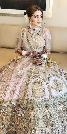 Exciting Indian Wedding Dresses That Youll Love ★ See more: https://www.weddingforward.com/indian-wedding-dresses/8