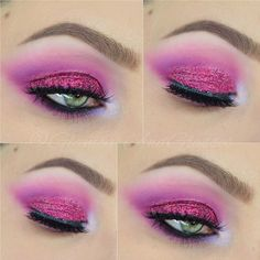 """Lit Cosmetics """"Glittergasm"""" size 2 w/ Viseart Editorial Brights Palette & House of Lashes """"Starlet"""""""