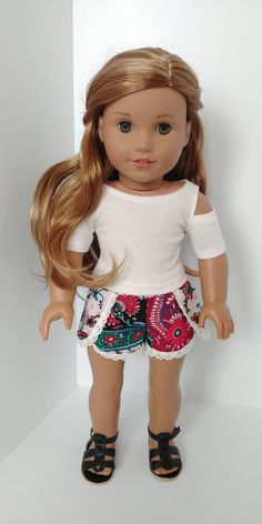 Excited to share the latest addition to my #etsy shop: 18 inch doll clothes. Fits like American girl .18 inch doll clothing.Top and shorts #toys #dollclothes #shirts #pink #black #18inchdolloutfit #18inchdollclothes #dollclothing https://etsy.me/2xv5lcT
