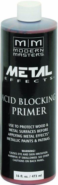 Metal Effects-Blocking Primer For use with Modern Masters Reactive Metallic Paints Water based acrylic primer Designed for metal and wood Faux Painting Walls, Painting Tips, Primer Design, Faux Paint Finishes, Metallic Painted Furniture, Clear Epoxy Resin, Patina Color, Painted Front Doors, Modern Masters
