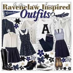 """ravenclaw inspired outfits ♥"" by the-slytherin-tip-girls on Polyvore"