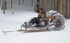 Steampunk snowmobile