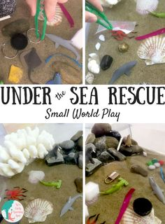 Under the Sea Rescue Small World Play is part of Under The Sea Rescue Small World Play Lizs Early Learning - This under the sea rescue small world activity is fantastic for encouraging children to think about water pollution and what we can do about it! Eyfs Activities, Kindergarten Activities, Activities For Kids, Preschool, Educational Activities, Snail And The Whale, Water Pollution, Plastic Pollution, Small World Play