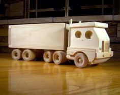 Handmade Wooden Cement Truck Toy by KringleWorkshops on Etsy