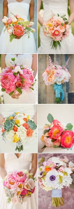 Summer Boquets - wish-upon-a-wedding -repinned from Southern California ceremony officiant https://OfficiantGuy.com