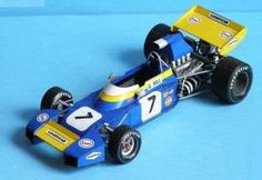 F1 Paper Model - 1971 British GP Brabham BT34 Paper Car Free Vehicle Paper Model Download