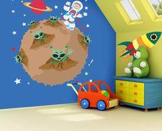 Behang Kinderkamer Ruimtevaart : Behang kinderkamer ruimtevaart elegant behang kinderkamer