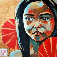 De nou l'artista francesa Stephanie Ledoux. Avui toca acrílic sobre collage! Bon dissabte   De nuevo la artista francesa Stephanie Ledoux. H...